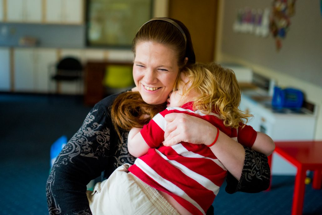 Richmond Place Housing Mom & child hugging