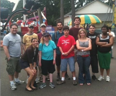 Los participantes de Club Impact celebran en Oaks Park