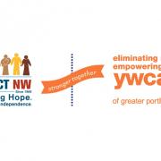 Tác động NW & YWCA - Biểu trưng Stronger Together