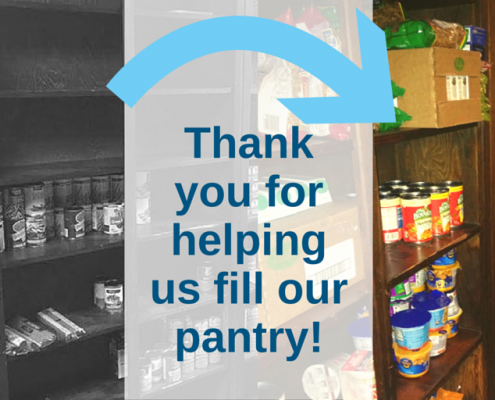 ¡Gracias por ayudarnos a llenar nuestra despensa!