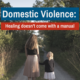 Domestic Violence: Healing doesn't come with a manual
