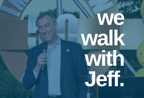 We walk with Jeff.