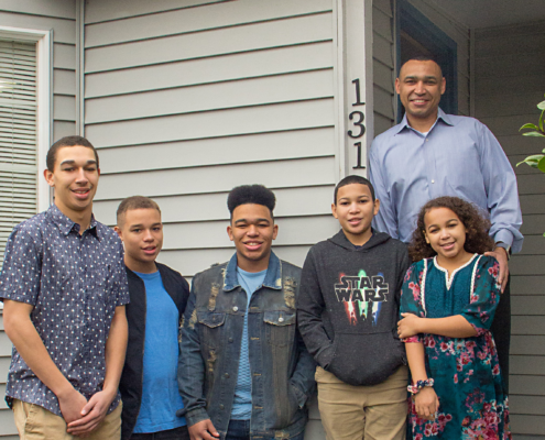 Jerome Smith and his children (left to right): Benjamin, Judah, Levi, Joseph, and Jasmine