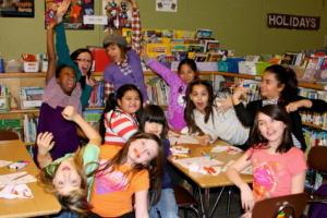 Students enjoying class