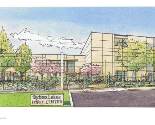 Architects Rendering of the Proposed Hope Center