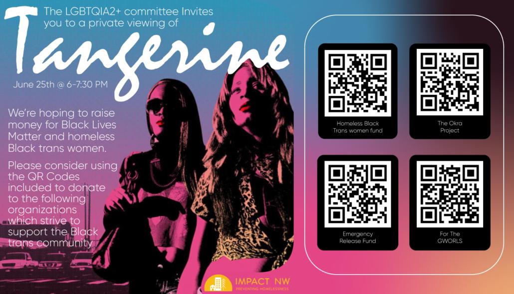 Tangerine Movie Poster and Invitation