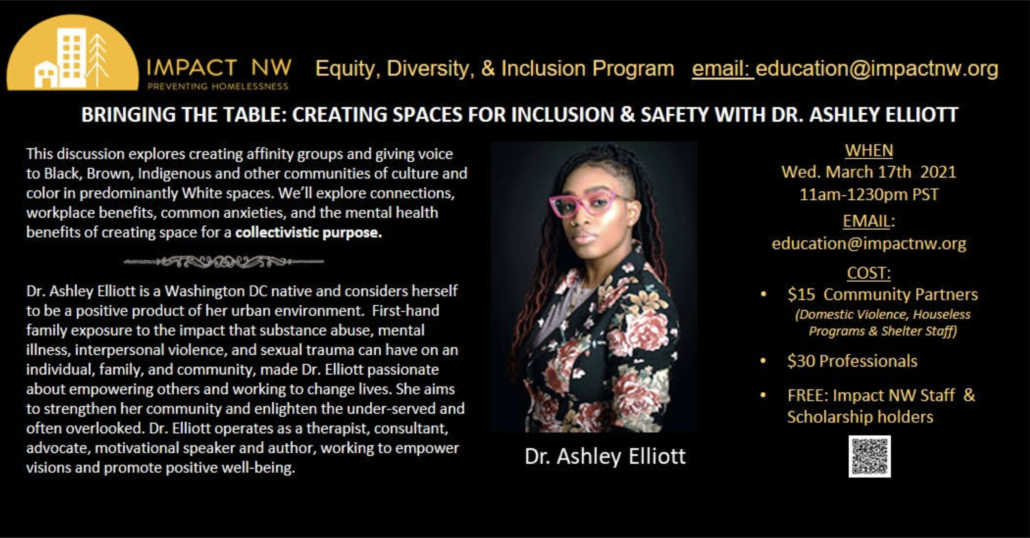 Bringing the Table: Creating Spaces for Inclusion and Safety with Dr. Ashley Elliott